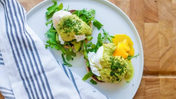 Healthy Mother's Day Recipe: Eggs Benedict with Avocado Hollandaise