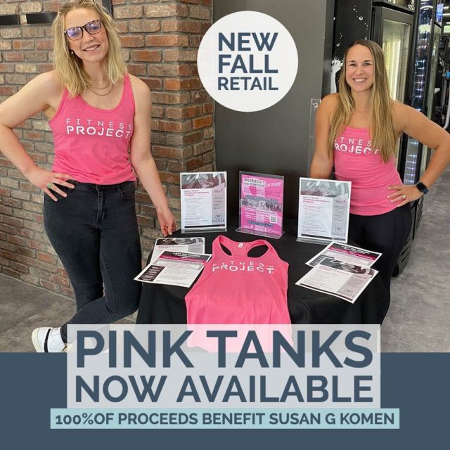 ON WEDNESDAY, WE WEAR PINK !!!  WORKOUT ON PURPOSE, WORKOUT IN PINK!   GET YOUR NEW PINK TANK TODAY FOR ONLY $24.99 (100% OF PROCEEDS TO BENEFIT SUSAN G. KOMEN HOUSTON)!  Whether you're looking for the perfect gear for yourself or for your friends, our selection of FP Gear is the perfect solution. Come check out the latest looks and styles on your next club visit. Who doesn't love NEW workout gear?  Look great, Feel Great! Oh, and our NEW fall looks are now available! So keep your eyes open!  #FITNESSPROJECT #pinkmonth #FPGEAR #breastcancerawareness #workoutonpurpose #fitnessgear #lookgoodfeelgood #commitmentcommunityculture #susangkomen #breastcancerawareness #pinkweek #fitnessprojectcares #fitnessprojecthumble #fitnessprojectwoodlands